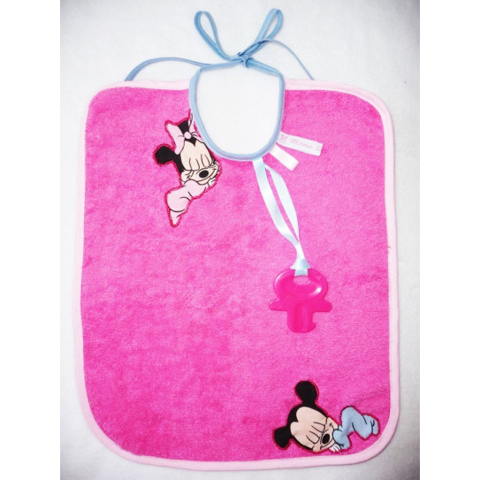 Bavoir 2 en 1 MICKEY & MINNIE