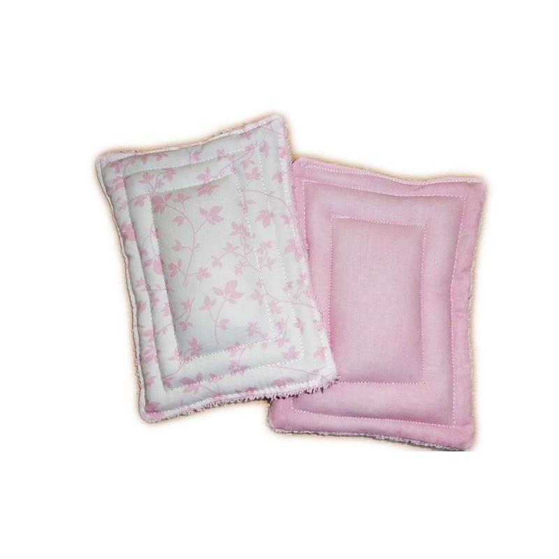 2 éponges lavables zéro déchet FEUILLAGE ROSE