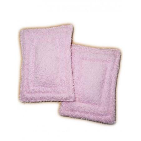 2 waschbare Schwämme ohne Abfall  ROSAFARBENES LAUB