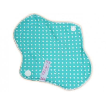 Protège-slip lavable en velours PETITS POIS (17 cm)