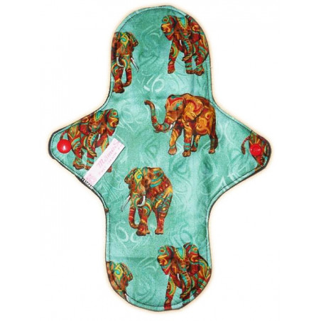 Washable sanitary napkin AFRICAN ELEPHANT (L)