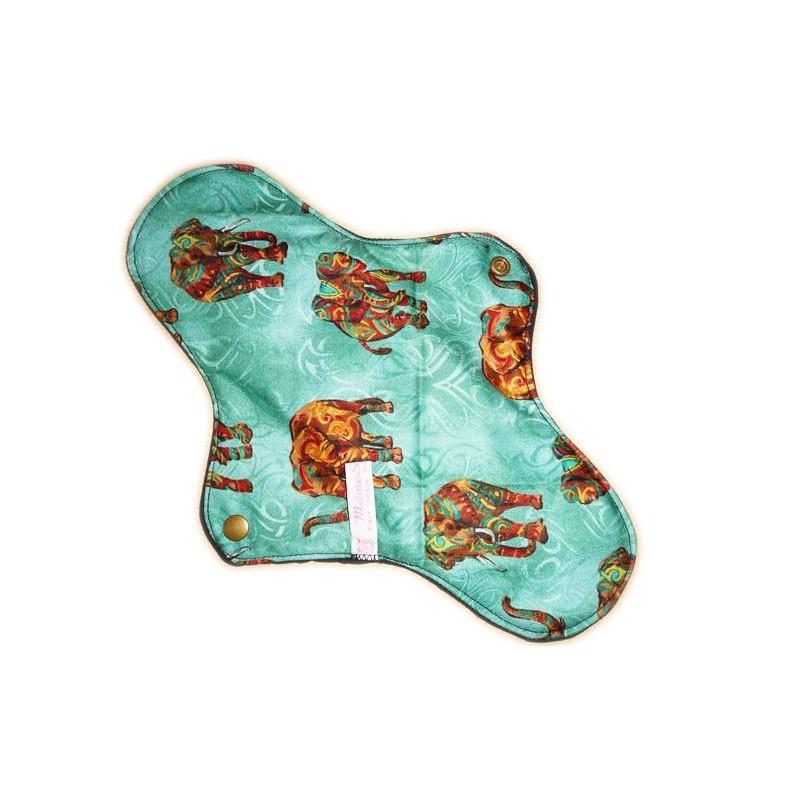 Serviette hygiénique lavable AFRICAN ELEPHANT (XL/ Nuit)