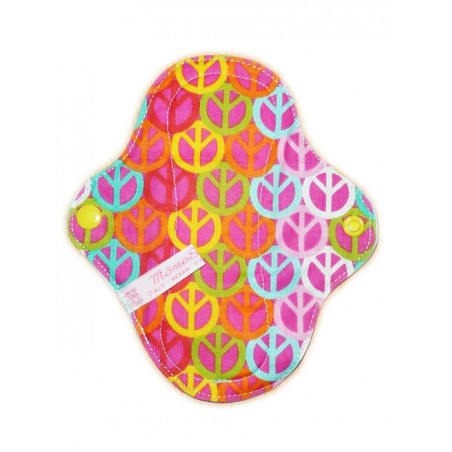 Protège-slip lavable PEACE AND LOVE (17 cm)