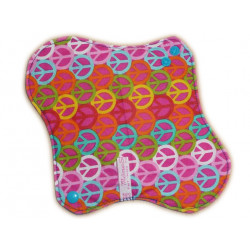 Washable sanitary napkin PEACE AND LOVE (M)