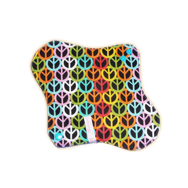 PEACE AND LOVE waschbare Damenbinde (M)