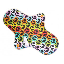 Washable sanitary napkin PEACE AND LOVE (L)