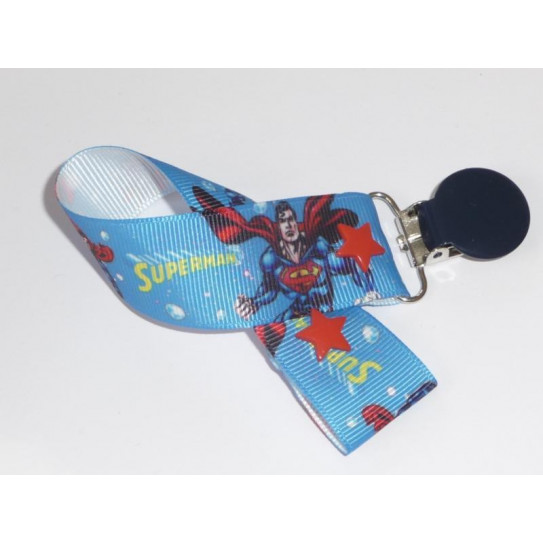 SUPERMAN pacifier clip