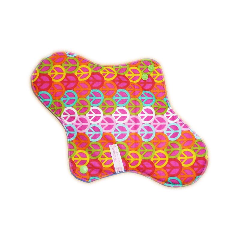 PEACE AND LOVE waschbare Damenbinde (XL/ NACHT)