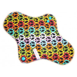 Washable sanitary napkin PEACE AND LOVE (XL/ NIGHT)