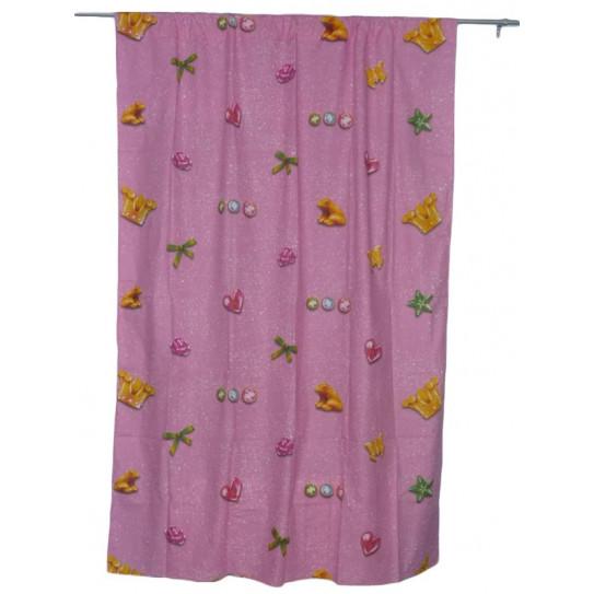 2 cortinas de color rosa princesa