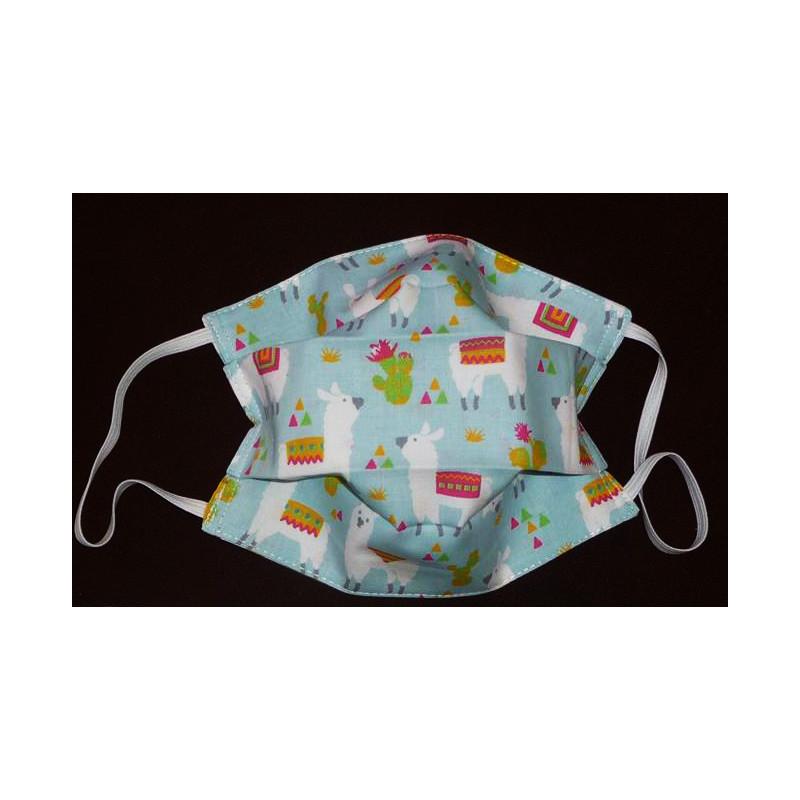 LAMA reversible waschbare Stoffmaske für Kinder