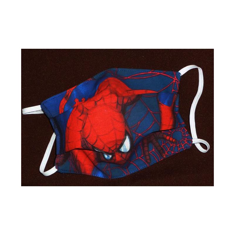 Masque en tissu lavable réversible enfant SPIDERMAN