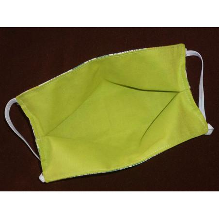 Masque en tissu lavable réversible FEUILLES