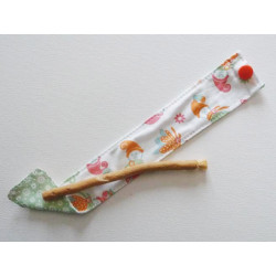 Siwak natural toothbrush and washable cotton pouch - ELVES