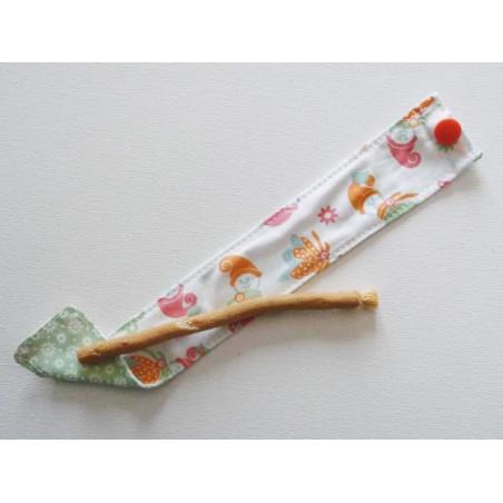 Siwak natürliche Zahnbürste und waschbarer Baumwollbeutel - ELFEN