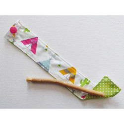 Siwak natural toothbrush and washable cotton pouch - TIPIS