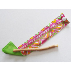Siwak natural toothbrush and washable cotton pouch - MEXICANA