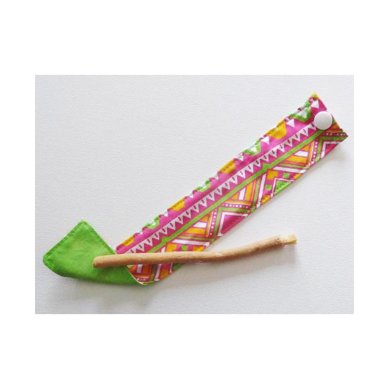 Siwak natürliche Zahnbürste und waschbarer Baumwollbeutel - MEXICANA