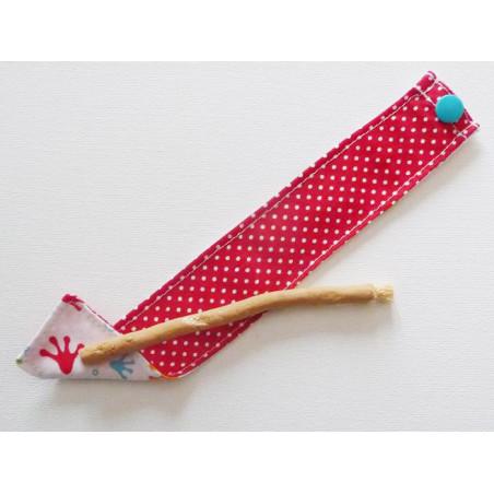 Brosse à dents naturelle Siwak et pochette en coton lavable - FROGGY