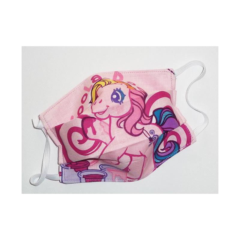 Masque en tissu lavable réversible enfant MON PETIT PONEY