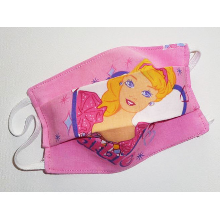 Masque en tissu lavable réversible enfant BARBIE BALLERINE