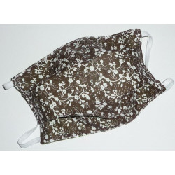 CHOCOLATE LIBERTY reversible washable fabric mask