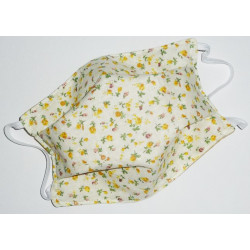 YELLOW LIBERTY reversible washable fabric mask