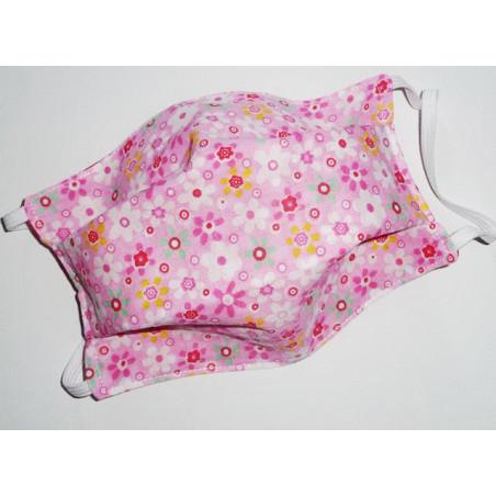 ROSA HIPPIE CHIC reversible waschbare Stoffmaske