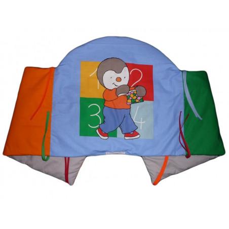 Cama y una manta parachoques T'choupi