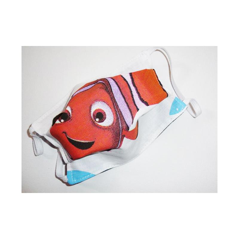 DIE WELT VON NEMO reversible waschbare Stoffmaske für Kinder