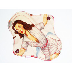 PIN-UP BASE-BALL washable panty liner (17 cm)