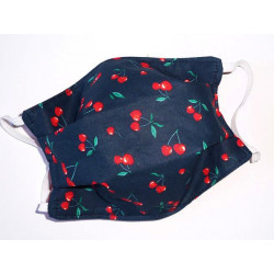 CHERRIES reversible washable fabric mask