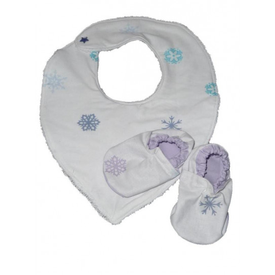 Bandana Bib and Snow Boot Set