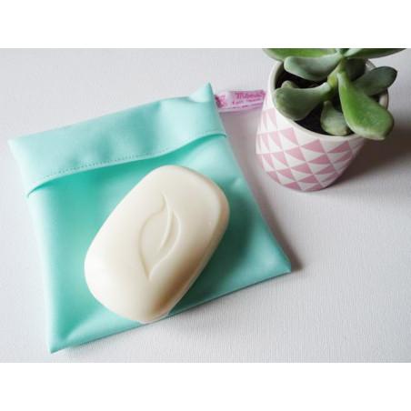 Pochette imperméable lavable et réutilisable MENTHE