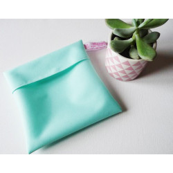 Washable and reusable waterproof pouch MINT