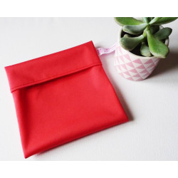 Washable and reusable waterproof pouch RED