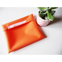 Washable and reusable waterproof pouch ORANGE