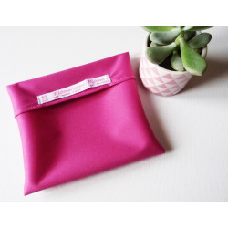 Washable and reusable waterproof pouch FUCHSIA
