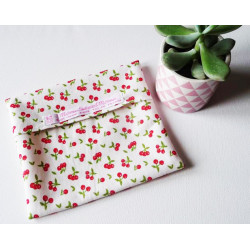 Washable and reusable waterproof pouch CHERRY