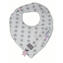 Bandana bib and teat pacifier set ALTAÏR