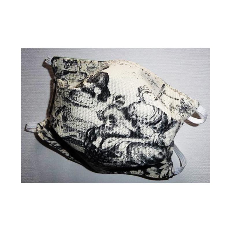 Masque en tissu lavable réversible TOILE DE JOUY