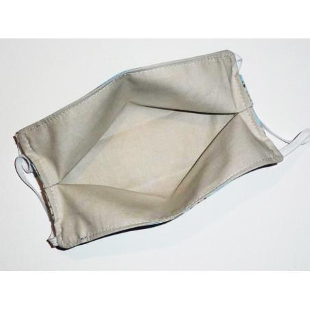 Masque en tissu lavable réversible AMANDIER EN FLEURS DE VAN GOGH