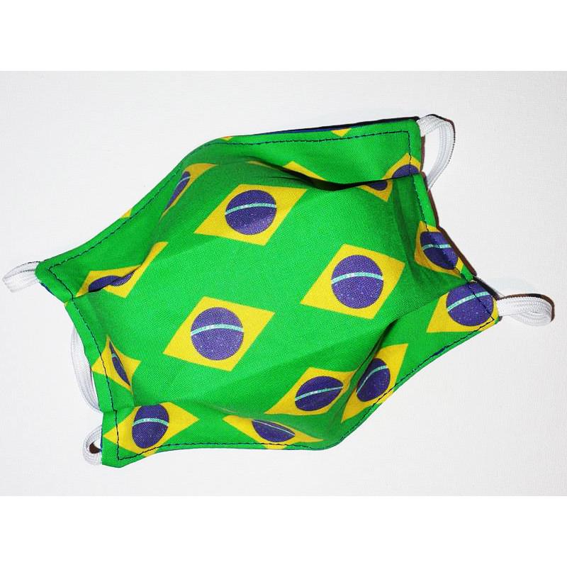 Masque en tissu lavable réversible BRESIL