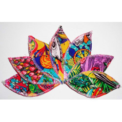 COLOR DESIGUAL wasbare interlabiale pad (set van 7) Maat L
