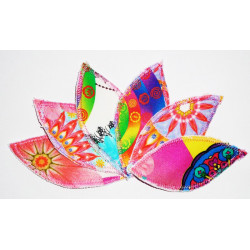 COLOR DESIGUAL wasbare interlabiale pad (set van 6) Maat L