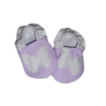 Mariposa del bebé botines BLANCO