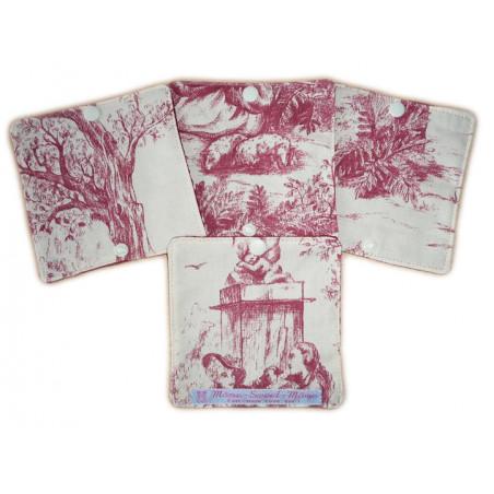 Papier toilette lavable TOILE DE JOUY (8 feuilles)
