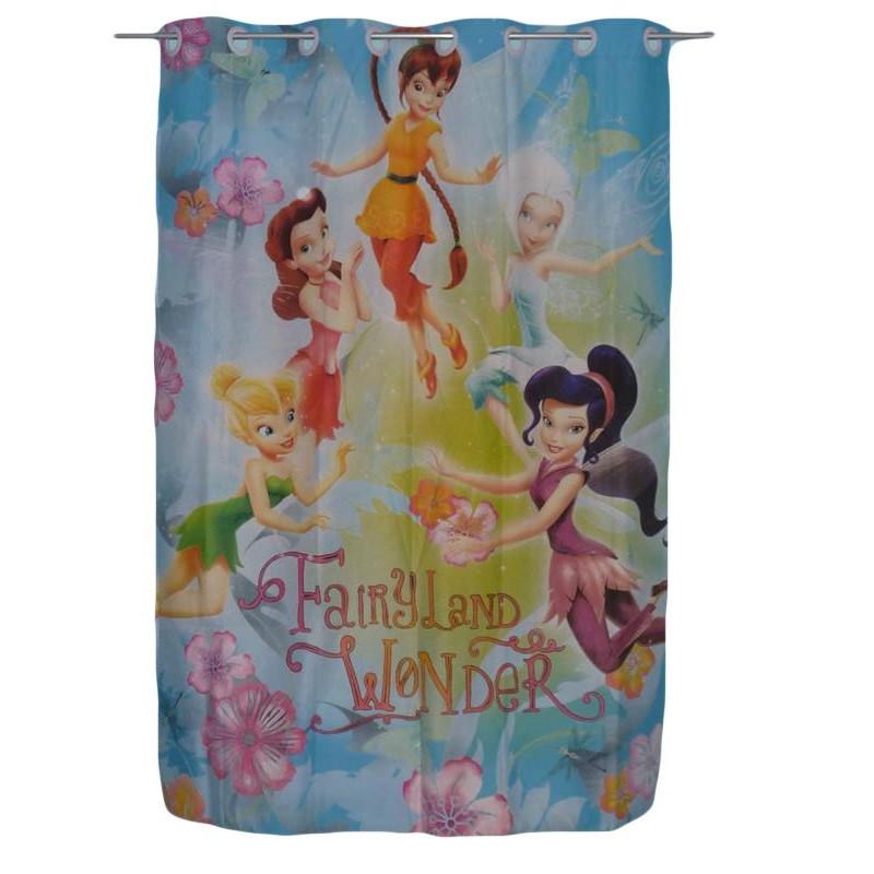 rideau enfant fee clochette fairies 135 x 190 cm. Black Bedroom Furniture Sets. Home Design Ideas