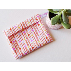 Washable and reusable waterproof pouch RETRO CUBE
