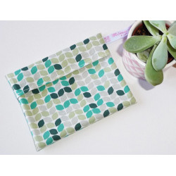 Washable and reusable waterproof pouch GREEN RETRO